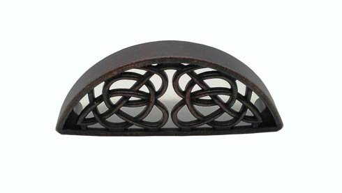$20.70 Celtic Style 3-13/16-in Center to Center Oil Rubbed Bronze Cup Cabinet Pull