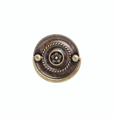 $13.60 Tuscany 2-in Center to Center Round Brass Ox Drop Cabinet Pull