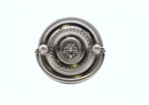 $13.60 Tuscany 2-in Center to Center Round Satin Nickel Drop Cabinet Pull