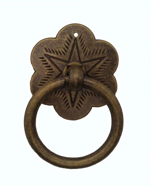 $13.60 Star Brass Ox Ring Cabinet Pull