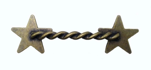 $15.60 Rope Star 3-1/4-in Center to Center Brass Ox Cabinet Pull