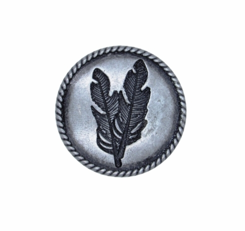 $14.20 Double Feather Pewter Ox Cabinet Knob