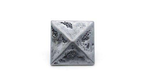 Square 1-3/8-in Pyramid Clavo 4-Pack Pewter Ox