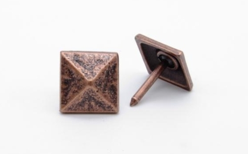 Square 3/4-in Pyramid Clavo 8-Pack Copper Ox