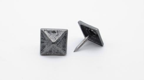 Square 3/4-in Pyramid Clavo 8-Pack Pewter Ox