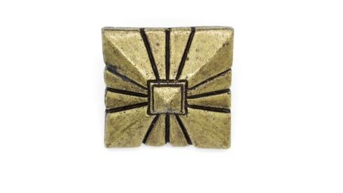 $23.12 Square 1-7/8-in Clavo 4-Pack Brass Ox