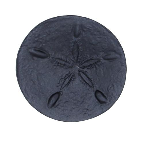 $15.00 Sand Dollar Matte Black Cabinet Knob