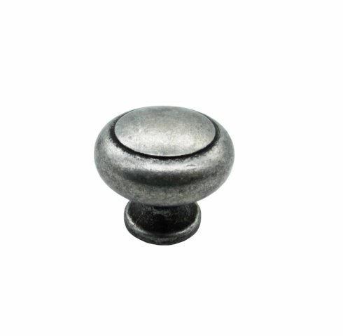 $12.20 Small Smooth Raised Pewter Ox Round Cabinet Knob