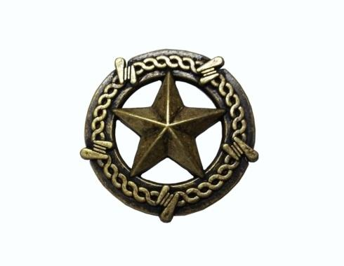 $14.20 Star with Barbed Wire Brass Ox Cabinet Knob