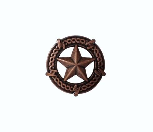 $14.20 Star with Barbed Wire Copper Ox Cabinet Knob