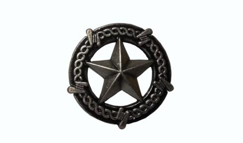 $14.20 Star with Barbed Wire Pewter Ox Cabinet Knob
