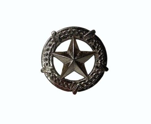 $14.20 Star with Barbed Wire Satin Nickel Cabinet Knob