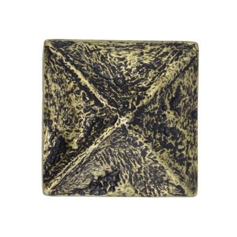 $14.20 Rustic Pyramid Brass Ox Cabinet Knob