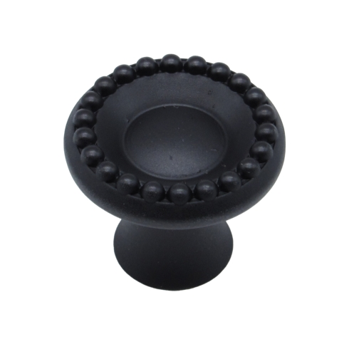 $12.20 Beaded Elegance Matte Black Cabinet Knob