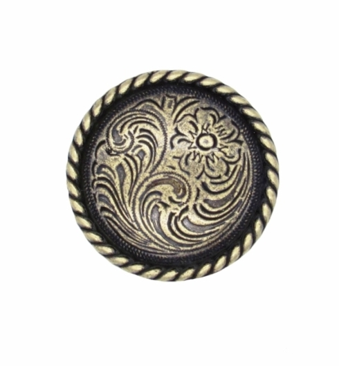 $10.20 Small Engraved Flower Brass Ox Cabinet Knob