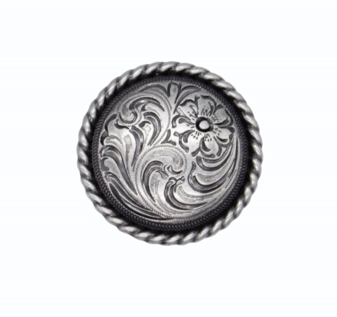 $10.20 Small Engraved Flower Nickel Ox Cabinet Knob