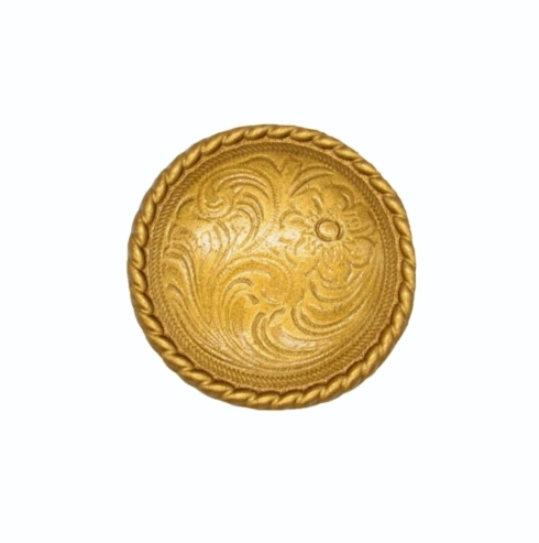 $11.70 Small Engraved Flower Lux Gold Cabinet Knob