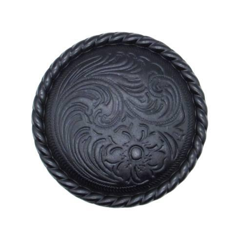 $12.20 Engraved Flower Matte Black Cabinet Knob