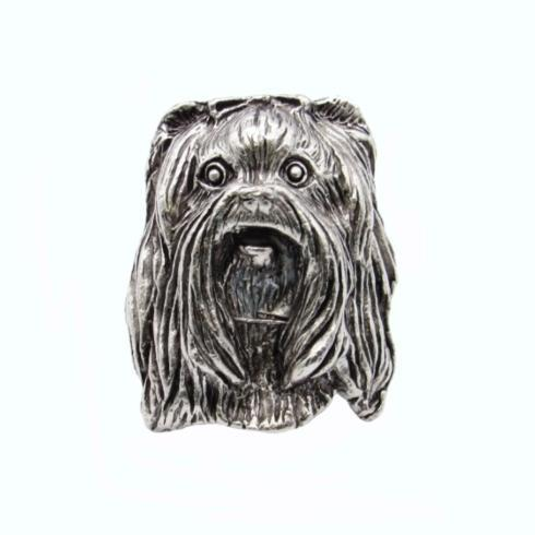 Yorkshire Terrier Pewter Ox Cabinet Knob