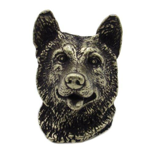 $23.50 Siberian Husky Brass Ox Cabinet Knob