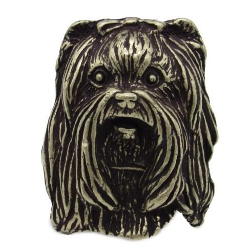 $23.50 Yorkshire Terrier Brass Ox Cabinet Knob