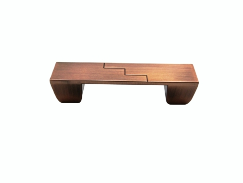 $17.60 Rectangle Center Zig Zag 3-In Center to Center Satin Copper Ox Cabinet Pull
