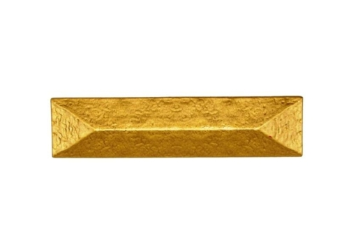 $20.30 Rustic Pyramid 3-in Center to Center Lux Gold Cabinet Pull