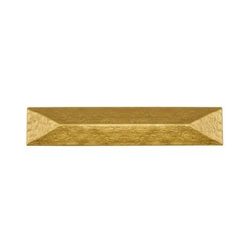 Rustic Pyramid 3-3/4-in Center to Center Lux Gold Cabinet Pull
