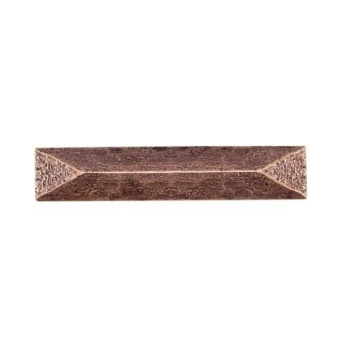 $18.30 Rustic Pyramid 3-3/4-in Center to Center Copper Ox Cabinet Pull