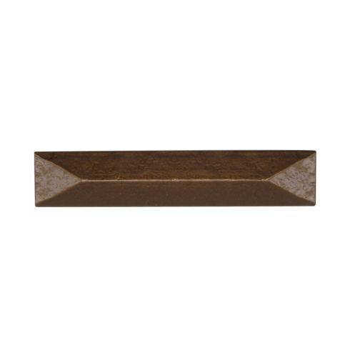 Rustic Pyramid 3-3/4-in Center to Center Lux Bronze Cabinet Pull