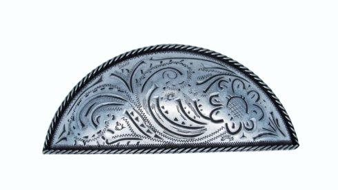 $19.70 Engraved Flower Pewter Ox 3-In Centers Cabinet Cup Pull