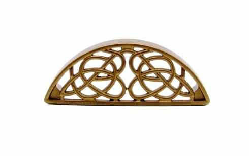 Celtic Style 3-13/16-in Center to Center Lux Gold Cup Cabinet Pull