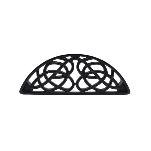 Celtic Style 3-13/16-in Center to Center Matte Black Cup Cabinet Pull