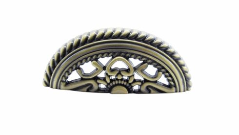 Tuscany 3-in Center to Center Brass Ox Cup Cabinet Pull