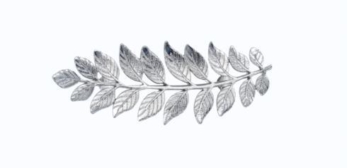 Fern Leaf Nickel Cabinet Pull