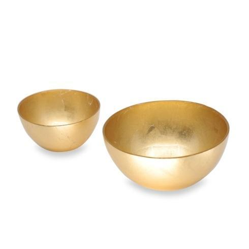 $49.50 Round Bowl Set Gold Foil