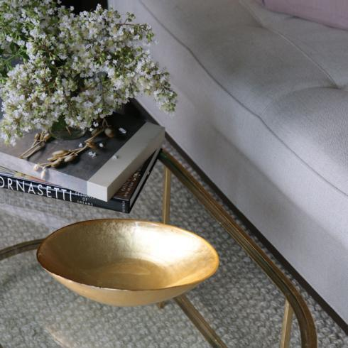 $54.00 Oval Bowl (Md) Gold Foil
