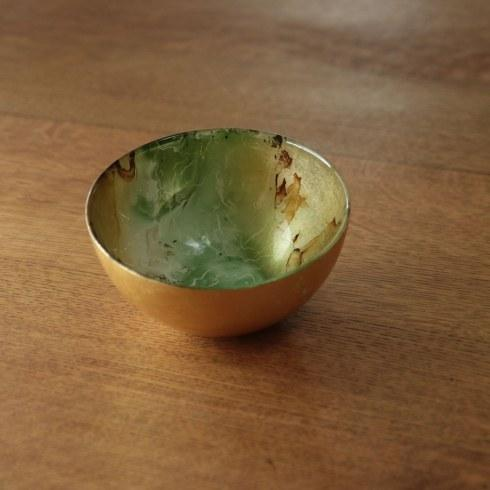 $32.00 Round Bowl (Sm) Green & Gold Green Marble