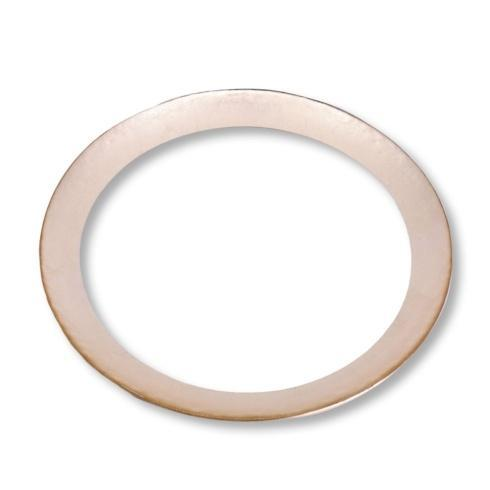 $45.00 Round Platter Clear with Gold Foil Rim Large