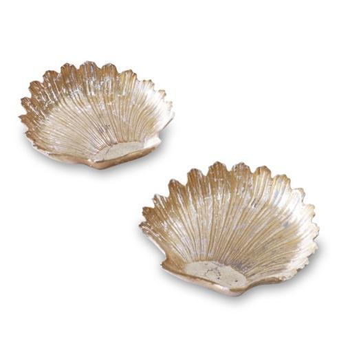 $58.00 Cracked 2 Pc Shell Set Gold Foil