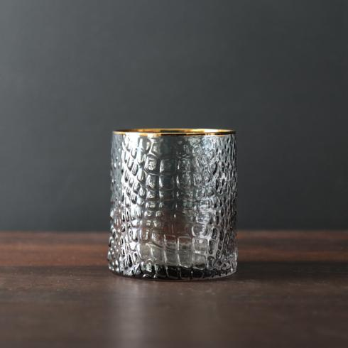 Beatriz Ball  Glass Croc Grey DOF With Gold Rim $19.00