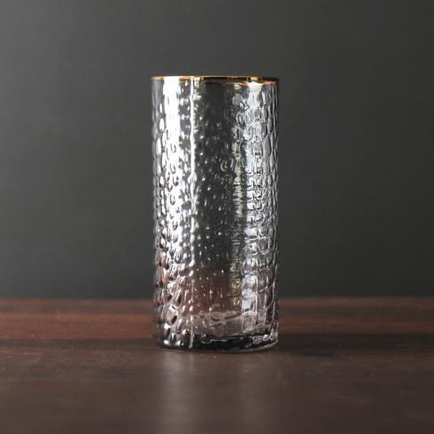Croc Grey Highball With Gold Rim image