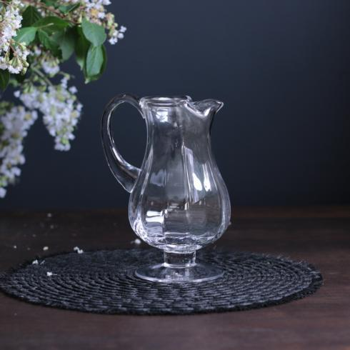 $75.00 Bohemian Glass Pitcher Clear