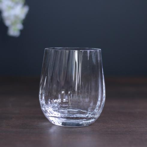 $20.00 Bohemian Glass Stemless Wine Clear