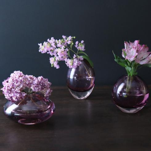 $108.00 Smooth Bud Vase Set Amethyst