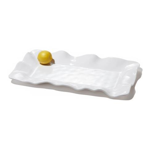 Havana rect long platter white