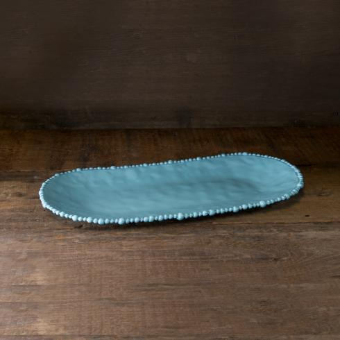 Beatriz Ball  VIDA Alegria ovl tray (lg) blue $50.00