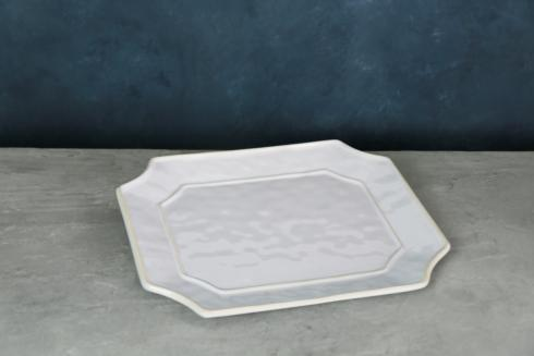 $48.00 Charleston Rect Platter White