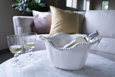 $62.00 Alegria Ice Bucket White