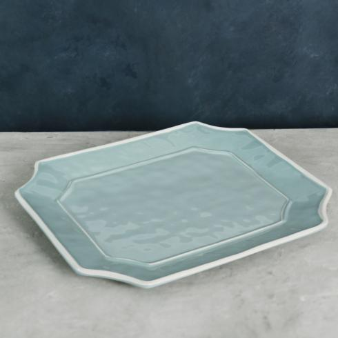 $48.00 Charleston Rect Platter Blue